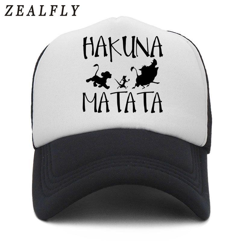 2524d443f56 HAKUNA MATATA Lion King Simba Summer Baseball Cap Truck Mesh Cap Hats For  Men Women Snapback Gorras Hombre Hats Casual Dad Bone Starter Cap Big Hats  From ...
