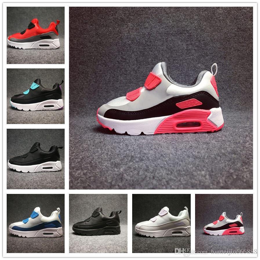 ae19004e6578bb Großhandel Nike Air Max Airmax 90 2018 Frühling Herbst Kinder Schuhe 90 Rot  Schwarz Breathable Bequeme Kinder Turnschuhe 90 Jungen Mädchen Kleinkind  Schuhe ...