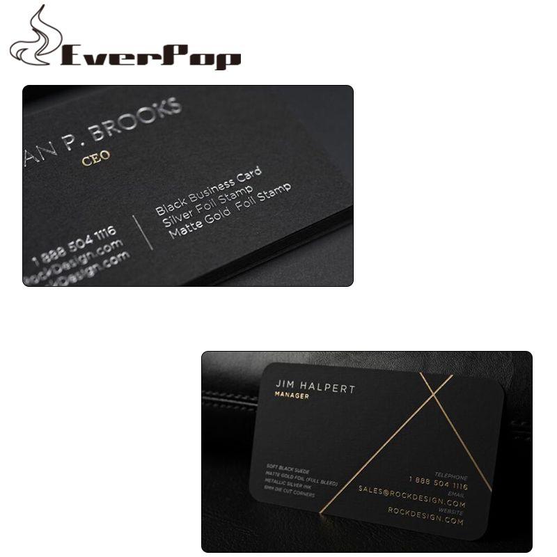 Acheter Personnalise 500gsm Cartes De Visite Noir Carte Impression Cote Conception 3549 Du Chengdaphone06