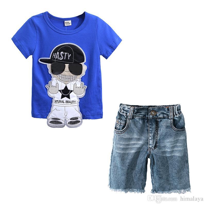 595f9887c Kids Boys Cartoon Clothes 2018 Baby Two Pieces Clothing Toddler ...
