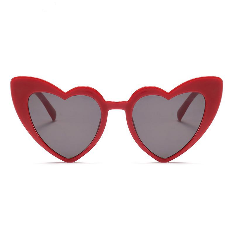 Compre Amor Coração Óculos De Sol Para As Mulheres 2018 Moda Cat Eye Óculos  De Sol Preto Rosa Coração Vermelho Forma Óculos De Sol Para Homens Uv400 De  ... 46180e2da8
