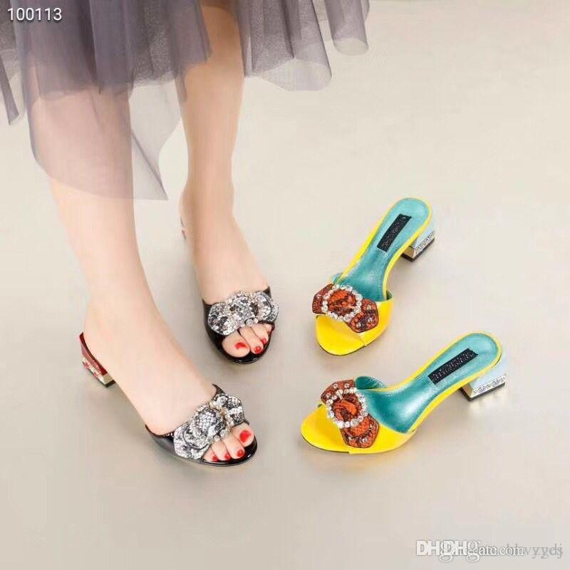 Free Delivery 2018 Summer Fashion Shoes Woman Rhinestone High Heel ... 0f11ab31f19e