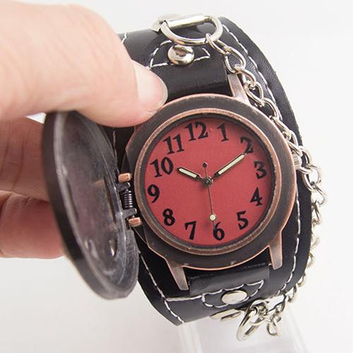 biker gothic skull bikers watch leather steampunk watches mens jewelry jewellery