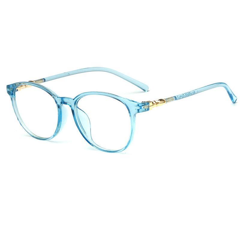 Compre New Retro Transparente Cor Oval Grande Quadro Completo Armações De  Óculos Das Mulheres Dos Homens De Decoração Simples Espelho Simples Óculos  De ... 12f2ac9631