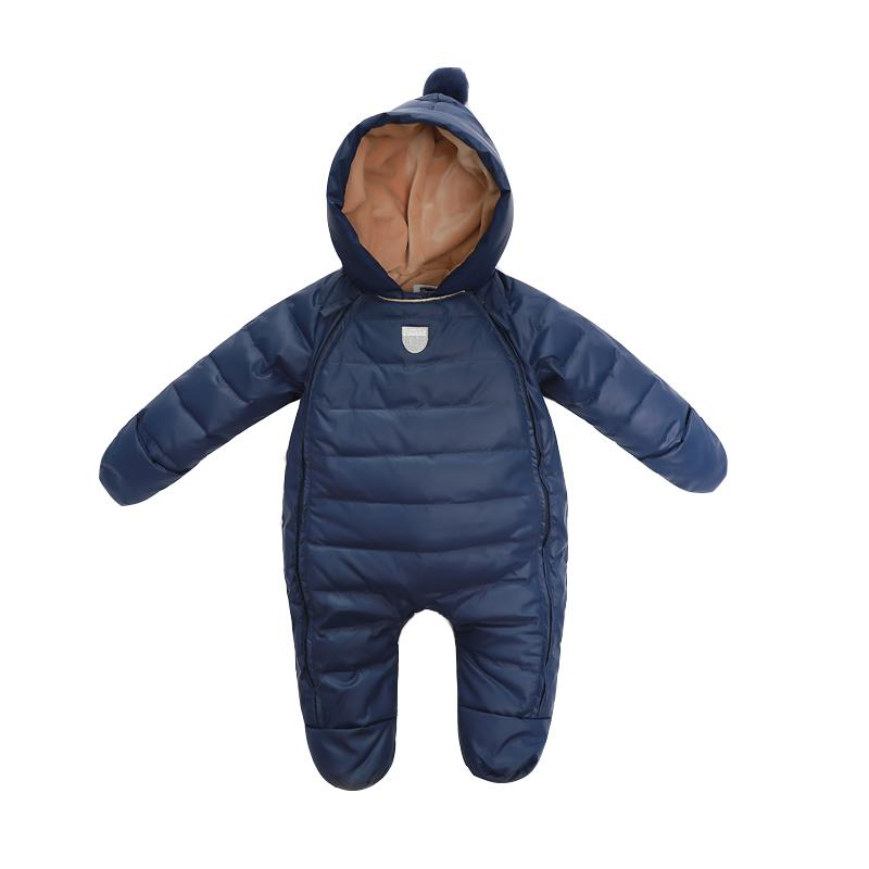 3d72f7036 Baby Rompers Newborn Baby Girl Thermal Duck Down Winter Snowsuit Cute  Hooded Jumpsuit Newborn Boy Clothes Ski Suit Children Down Jacket Kids Down  Jackets ...