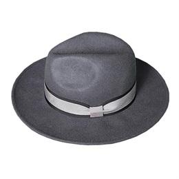 Designer Women Wide Brim Grey Wool Fedora Hats for Spring Autumn Winter Men Black Woolen Felt Fedoras Caps Wholesale Quality Mens Trilby Hat