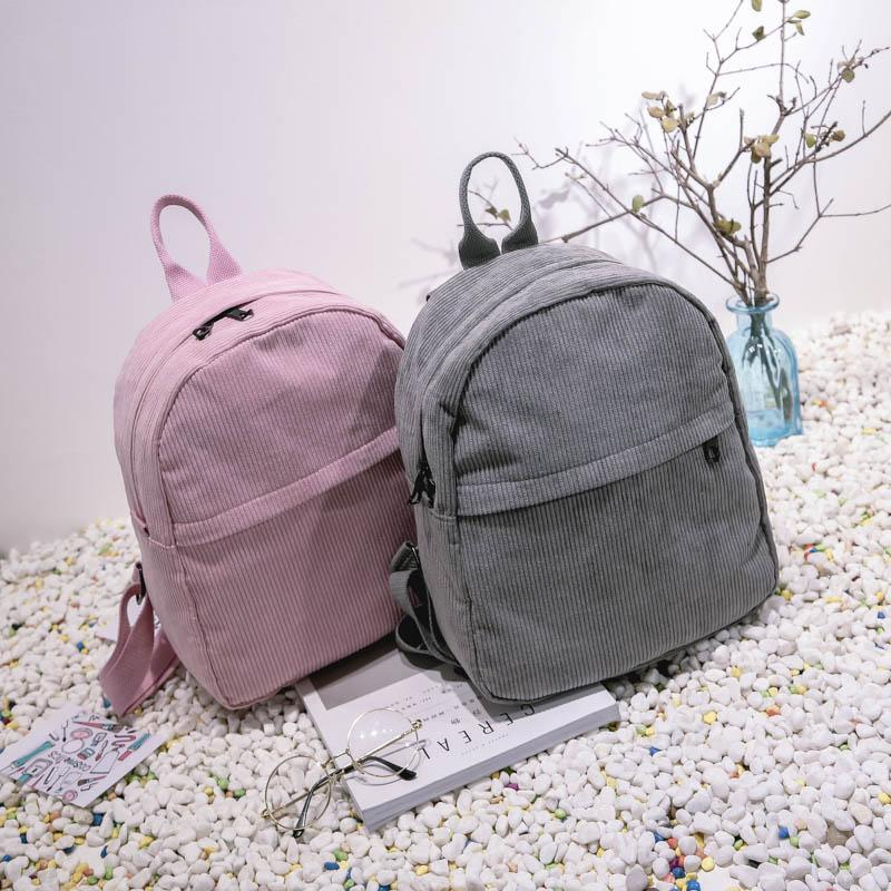 YBYT brand 2017 new corduroy women rucksacks preppy style girls students book bags female shopping bags ladies travel backpacks