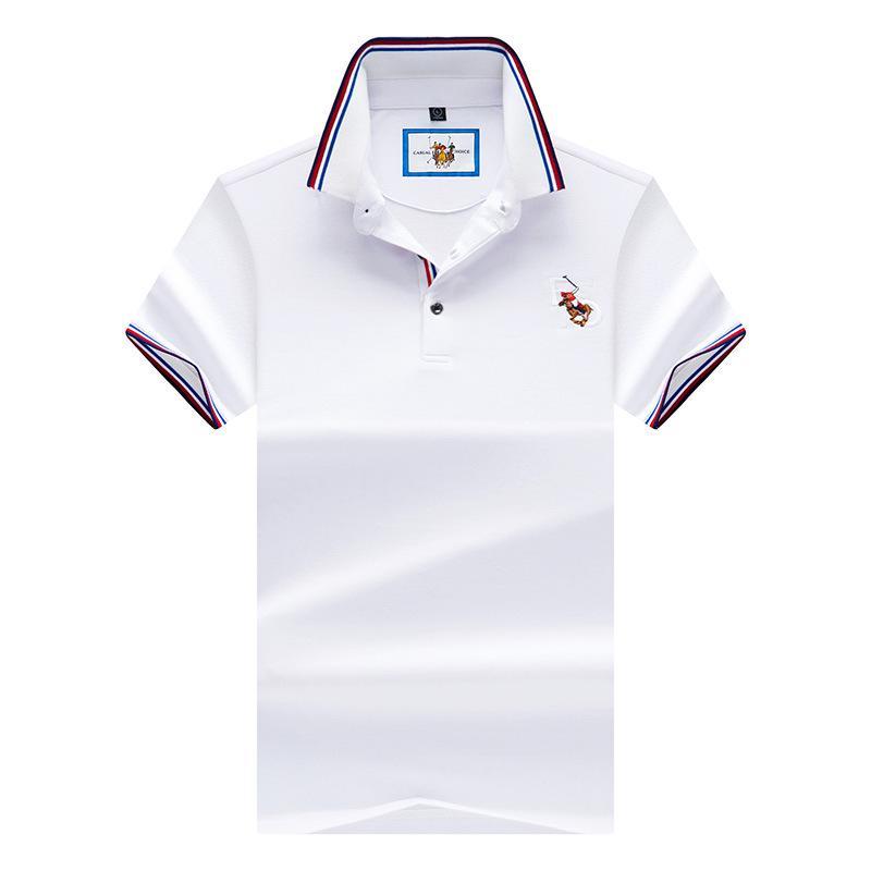 5854e0d5ed8e7 Compre 2018 Novo Mens Camisas Polo De Manga Curta De Verão Designer  Masculino Sólida Casual Camisa Polo Homens Marca Polo T AF9093 De  Bclothes002