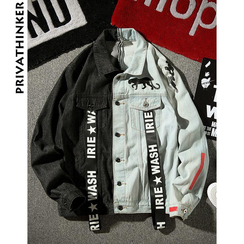Acquista 2018 INS Uomo Giacche Di Jeans Streetwear Giubbotto Nero Con  Giubbotto Da Uomo Maschile Giacca Da Uomo Stile Vento A  52.21 Dal Rykeri  8e2f175b7d0