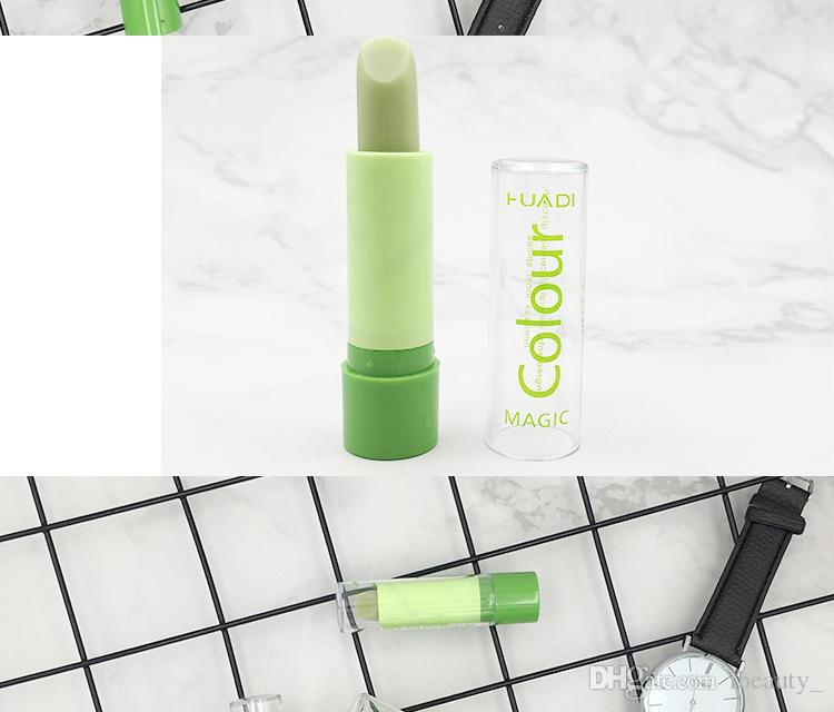 2018 Brand New Hot Sale Lip Balm Magic Change Color Lipstick Green Paste Change Color Turn Into Pink