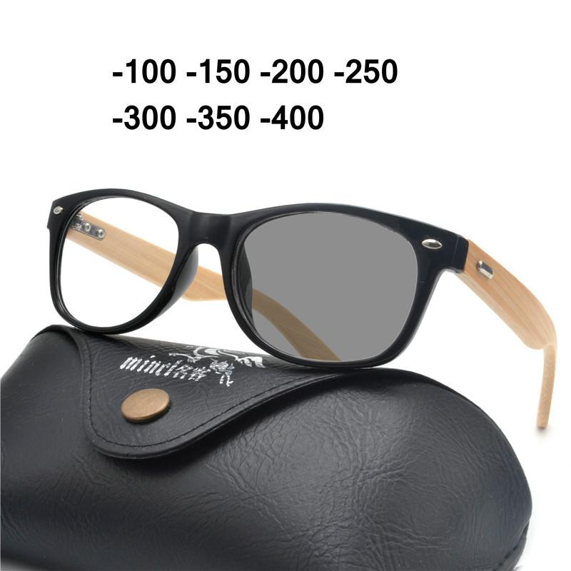26ae547043 2019 Fashion Square Sun Photochromic Glasses UV400 Classic Black Student  Finished Color Changing Optical Glasses With Box NX From Qiuyeluo