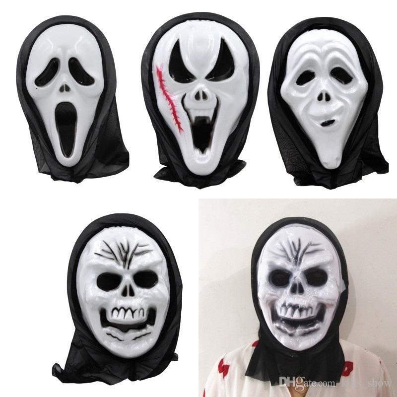 Halloween Skeleton.Halloween Skull Mask Scary Ghost Mask Scream Costume Party Creepy Skull Horror Skeleton Masks Cosplay Costumes Prop Mask