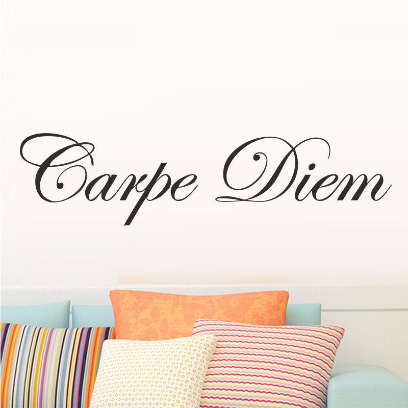bambini soggiorno home decor saggezza citazione parole muro lettering adesivo murale rimovibile carpe diem