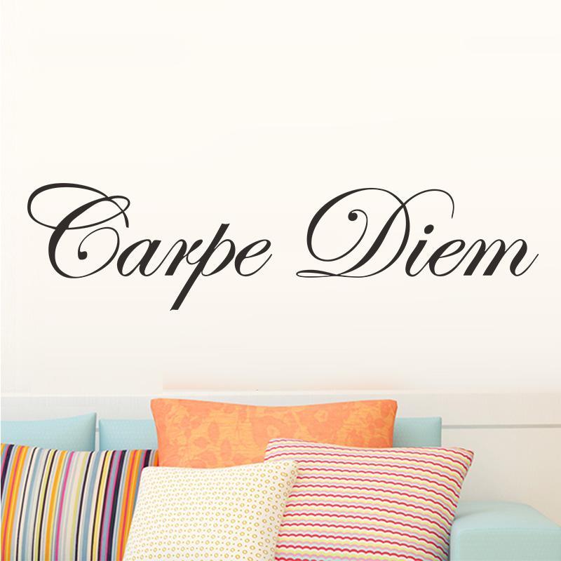 Niños sala de estar decoración del hogar sabiduría cita palabras de la pared calcomanía etiqueta de la pared etiqueta de la pared extraíble carpe diem