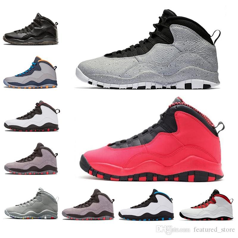 eb82f3ef420 New Cement Westbrook X I M Back 10 10s Men Basketball Bobcats Chicago Cool  Grey Powder Blue Steel Grey Black White Shoes Sports Sneakers Girls  Basketball ...