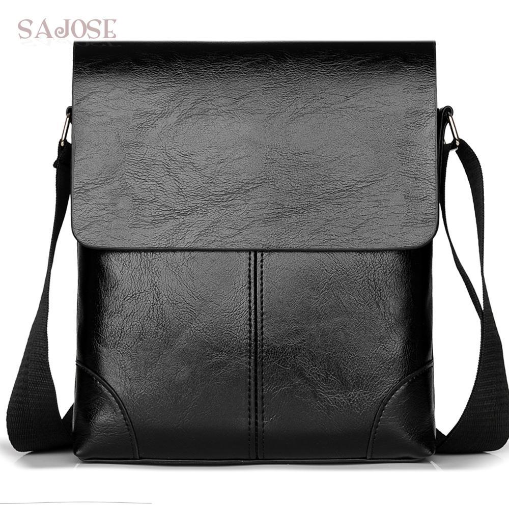 Crossbody Bag For Men Leather Shoulder Bag Casual Business Male Messenger  Bags Vintage Mens Designer Black Handbag Drop Shipping Leather Handbag Red  ... c67b3fbca3709