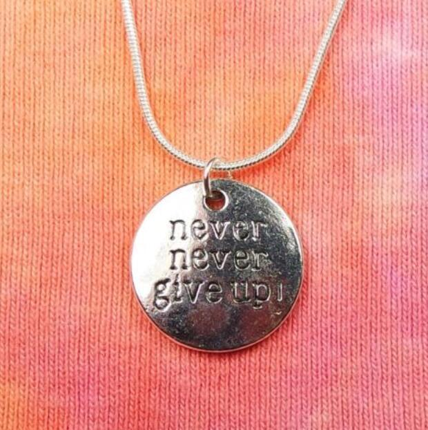 Wholesale never never give up necklace pendant vintage silver snake wholesale never never give up necklace pendant vintage silver snake chain choker statement necklaces accessories for women jewelry gifts bijoux silver aloadofball Images