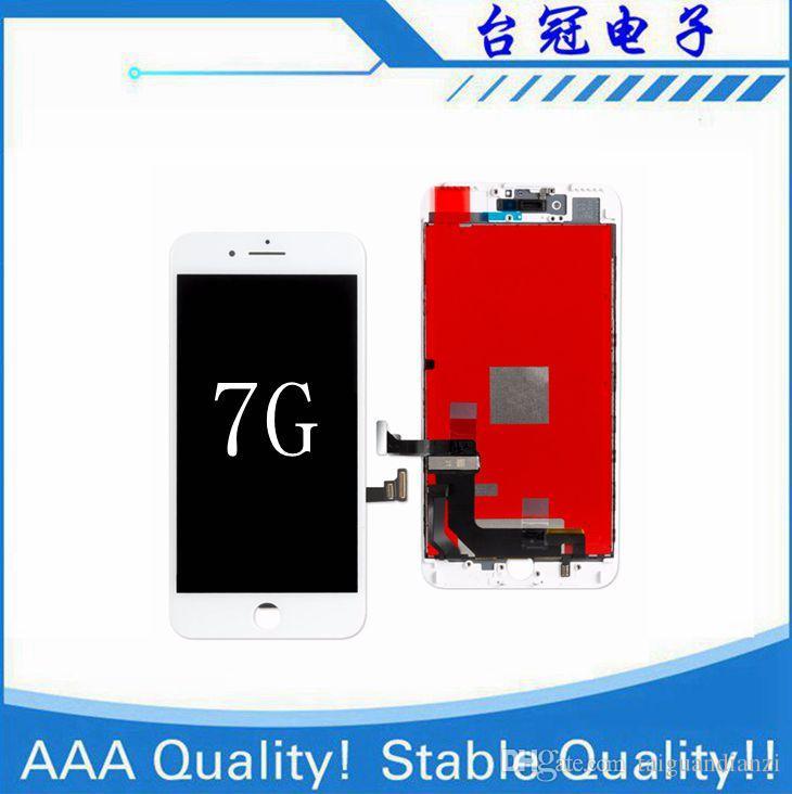 Kaliteli Ekran iPhone7 Için LCD Ekran ve Sayısallaştırıcı Değiştirme iPhone7 LCD Siyah Beyaz Için Dokunmatik Ekran