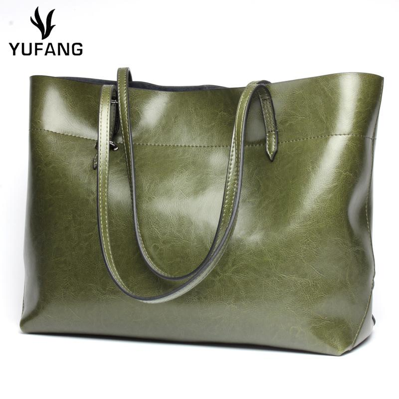 YUFANG Women Handbags Genuine Leather Ladies Shoulder Tote Fashion All  Match Shopping Bag For Womens Large Capacity Travel Bag Personalized Bags  Fashion ... 792c7e87ace0f