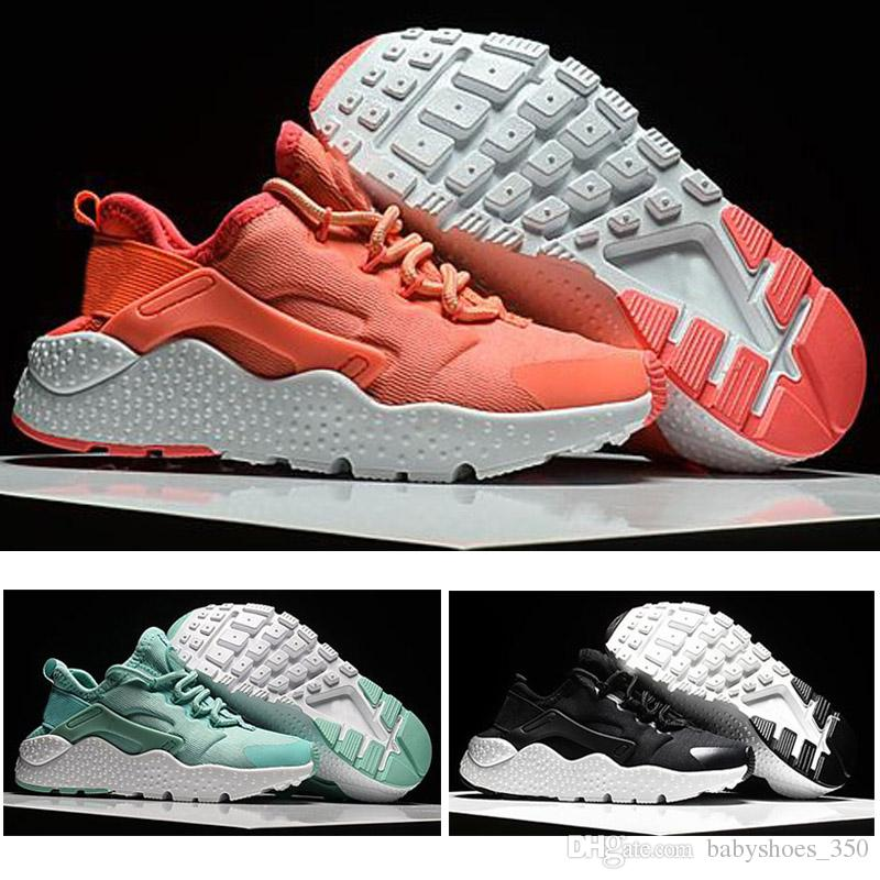 big sale 8a200 cf14b 2018 Air Huarache kids Running Shoes Black White Pink Huaraches Designer  Baby Casual trainers sport shoes