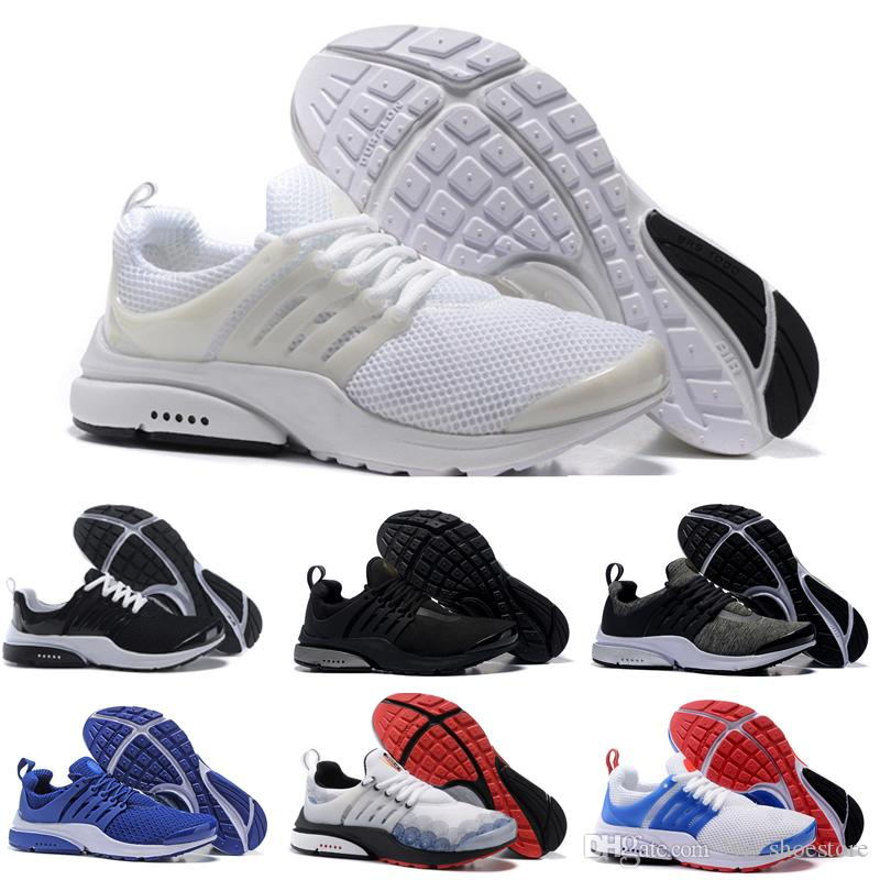 f6b88c5bb6c6 With Box 2018 Casual Shoes Presto BR QS Womens Mens Triple White ...