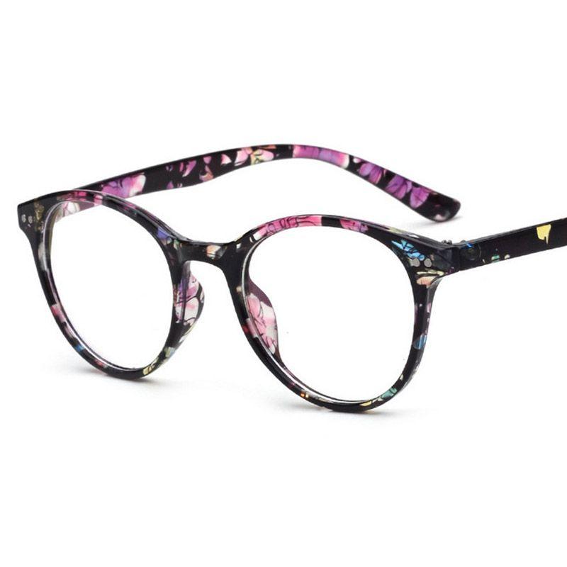0dfc5d1501f 2018 New Optical Plain Mirror Eyeglass Frame Oval Full Frame Student PC  Eyeglasses Frames Men Women Retro Multicolor Eye Glasses Frame Vintage  Style ...