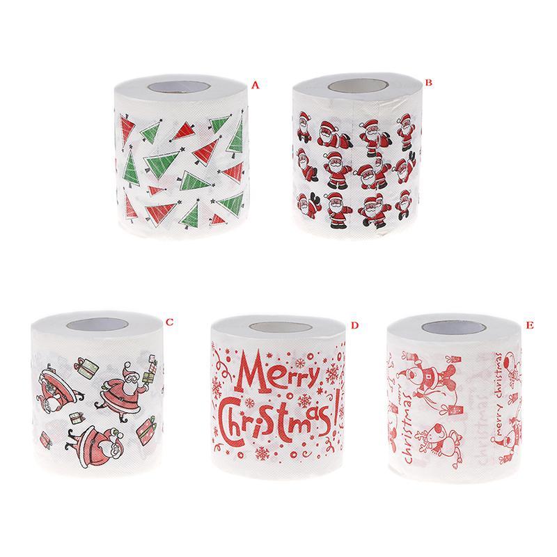 Weihnachtsdeko Neuheiten 2019.Neuheit Roll Toilettenpapier Für Weihnachtsdekoration Weihnachten Druckpapier Toilettengeweben Großhandel 5 Farben