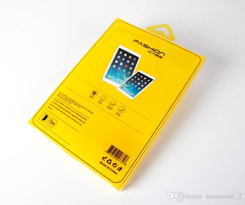 Scatola di imballaggio in PVC ipad 2 3 4 Custodia Auto sveglia Wake Up Flip Litchi PU Custodia in pelle tablet
