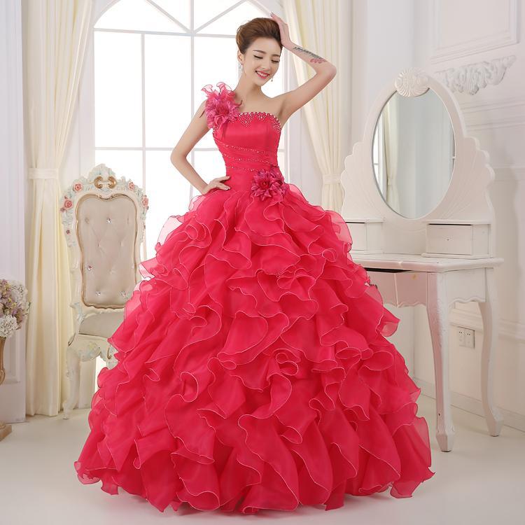 Blue Color Strapless Beading Ruched Wedding Dress 2018 Korean Female Art  Exam Gowns Part Dress Vestidos De Novia Plus Size Bridal Gowns Vintage  Wedding ... 2c56dc48165a