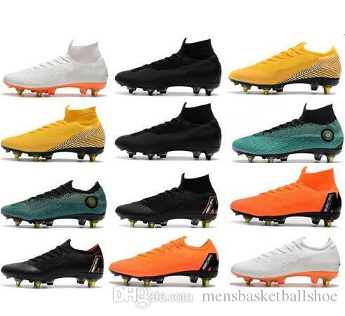 85e03e07f337 2019 World Cup Cristiano Ronaldo Mens Soccer Cleats Mercurial Superfly VI  360 Elite SG AC Steel Spikes Soccer Shoes ACC Football Boots Soccer Cleats  ...
