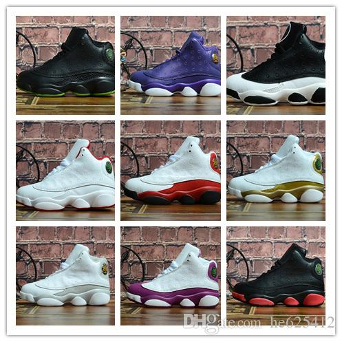 f0bf3ff3a2 13s altitude green Kids basketball shoes Infant XIII 13 Dirty Bred Sneaker  Boy & girl children athletic sports boy girl Trainers