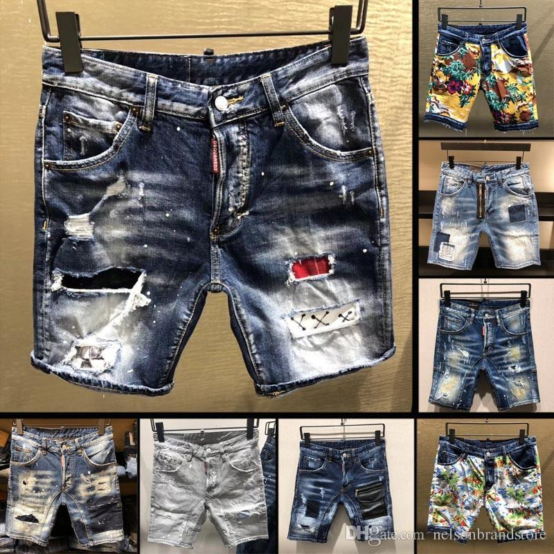 2e9b77fbca 2019 Famous Brand Designer Shorts Men Top Quality Slim Fit Ripped Mens  Denim Jeans Shorts Fashion Street Luxury Man Short Jeans From Wodexingxing