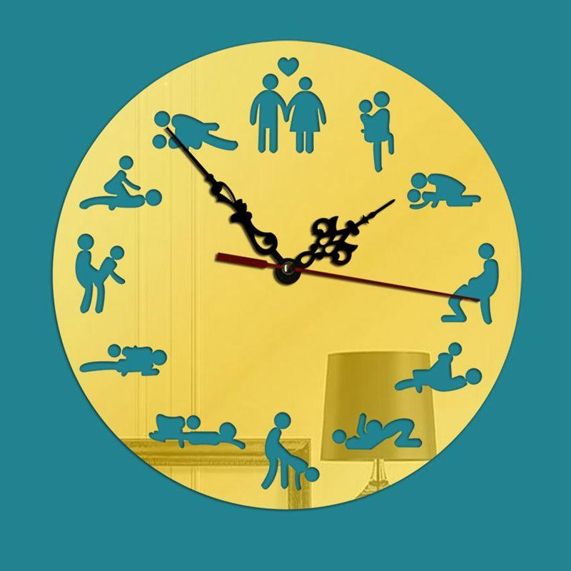 0df092a3c7c Compre 23 CM DIY Criativo Engraçado Autoadesivo Relógio Kama Sutra Sex  Posições Espelho Relógio Posições Sexuais Relógio Japonês Padrão D De  Isaaco