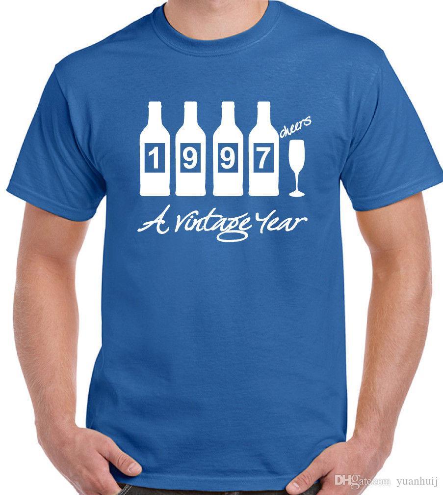 Bottles 1997 Mens Funny Novelty 21st Birthday T Shirt Gift Present