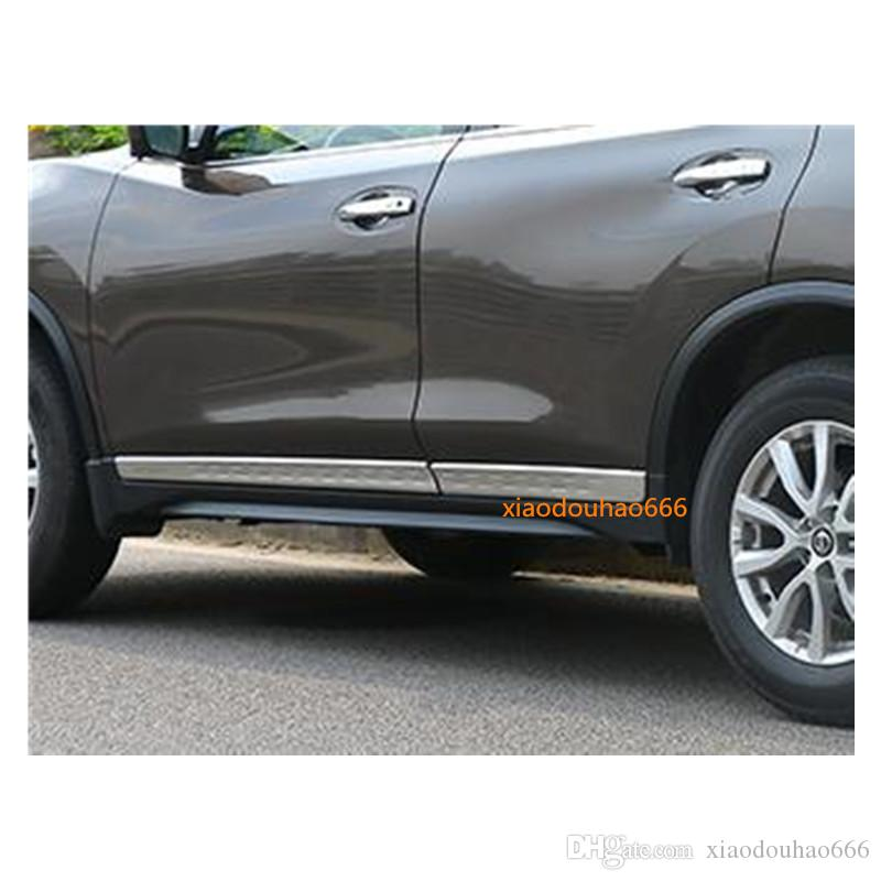Travel & Roadway Product Abs Accessories Exterior Side Door Molding Cover Trim 4pcs For Nissan X-trial Rogue 2014 2015 2016 2017