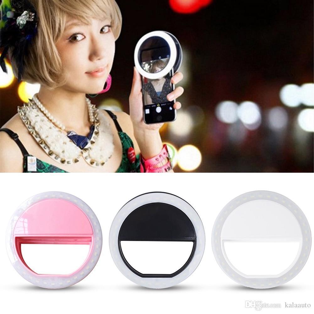 2019 뜨거운 Selfie 조명 3 모드 조절 가능한 간략 한 Selfie LED 링 플래시 라이트 카메라 사진
