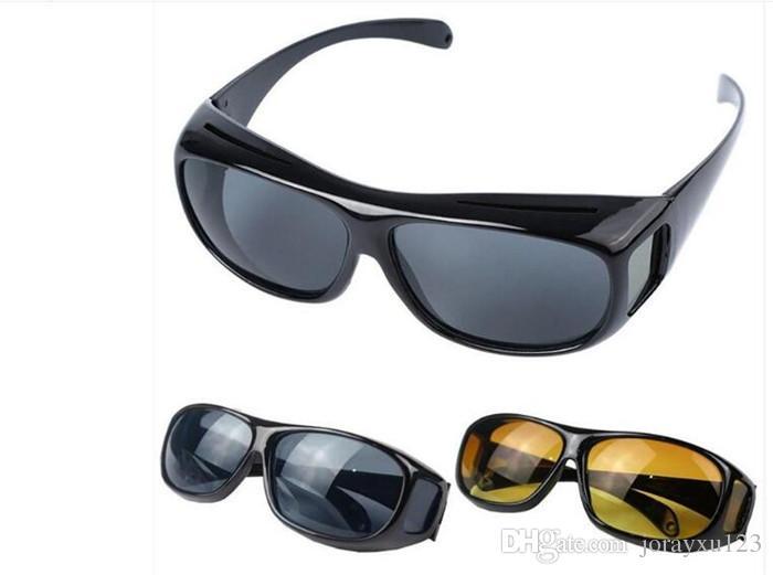 hd visão noturna condução óculos de sol dos homens lente amarela sobre envoltório em torno de óculos de condução escuro uv400 óculos de proteção antiofuscante j030