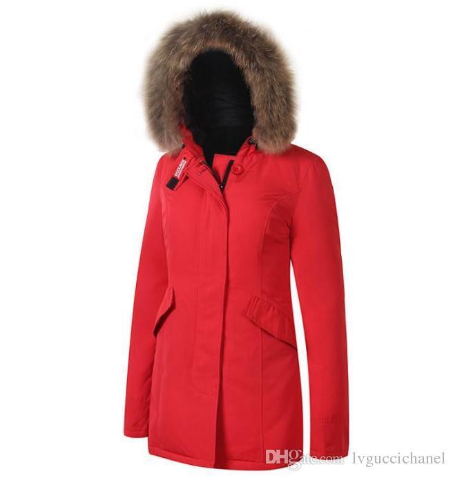 Woolrich mantel damen rot
