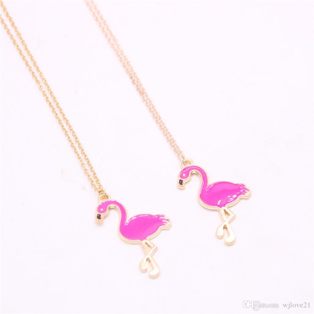 Collana pendente Flamingo Collana hot-vendita Collana pendente flamingo elemento disegnata le donne Mix di vendita al dettaglio e all'ingrosso