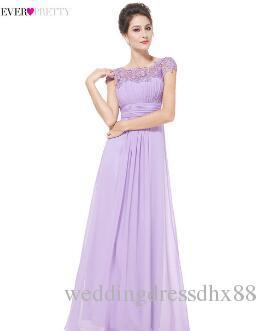 be05b057a Compre 2018 Elegante Largo Baratos Vestidos De Noche Lila Con Apliques De  Encaje Ever Pretty HE09993 Vestidos De Fiesta De Las Mujeres Vestido De  Noiva A ...