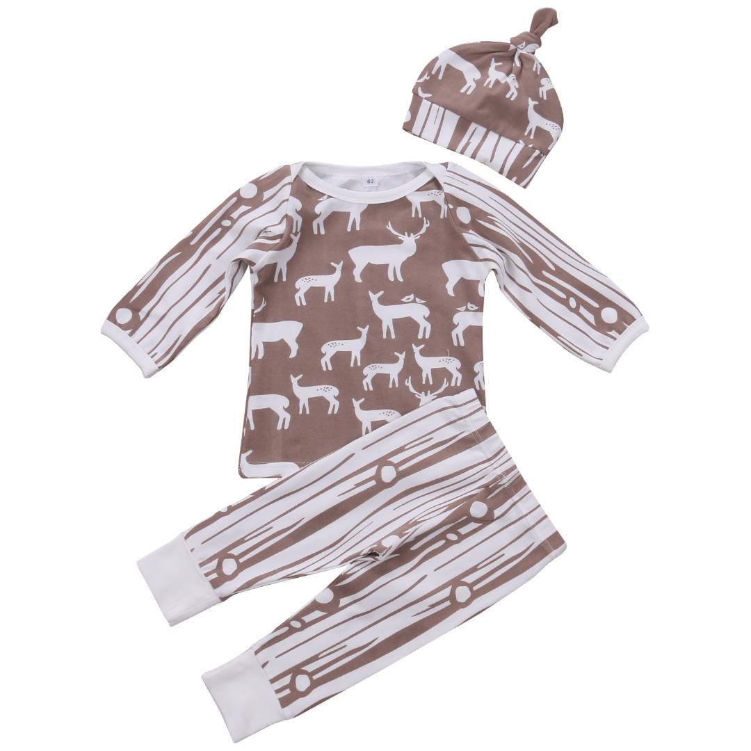 615f8ec65a1f5b Newborn Kids Infant BabyBoys Clothes Romper Tops+Pants Bodysuit Outfits Set  pudcoco Baby kids boy fall winter warm Clothes set