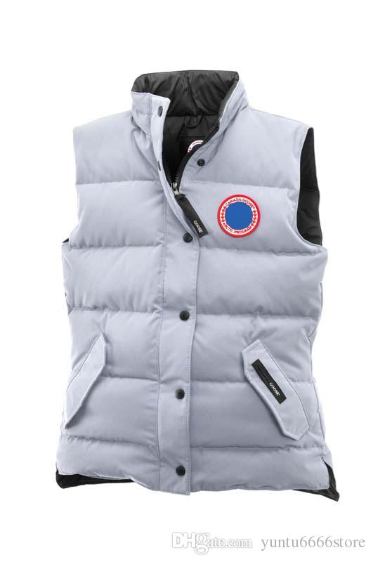 New Canadian goose winter men's Women's down Outdoor thick warm outdoor goose down vest windproof warm
