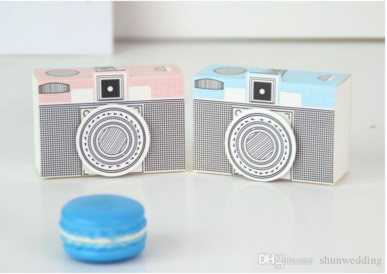 New Paper Craft Gift Bags Camera Design Candy Boxes Chocolate Gift Holder Bag Wedding Birthday Event Party Supplies Vintage Package