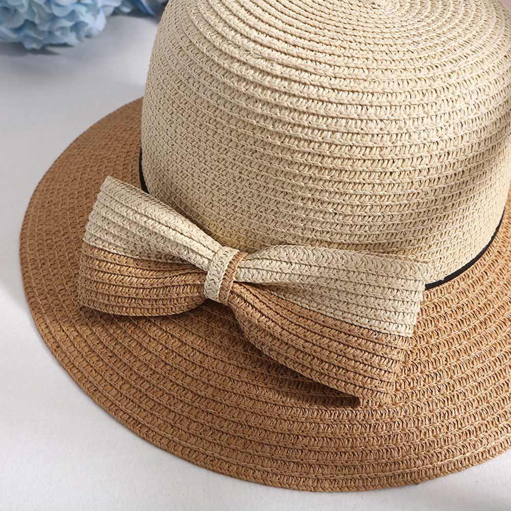 b3107cd0063 Women Straw Sun Hat Wide Brim Bowknot Decor Bucket Hats Casual Outdoor  Summer Beach Sunshade Hat AIC88 Winter Hats For Women Beach Hats From  Playnice