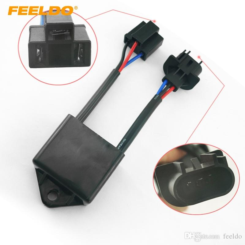 FEELDO Car Xenon HID Kit Anti-flicker Error Warning Canceller H4 To on