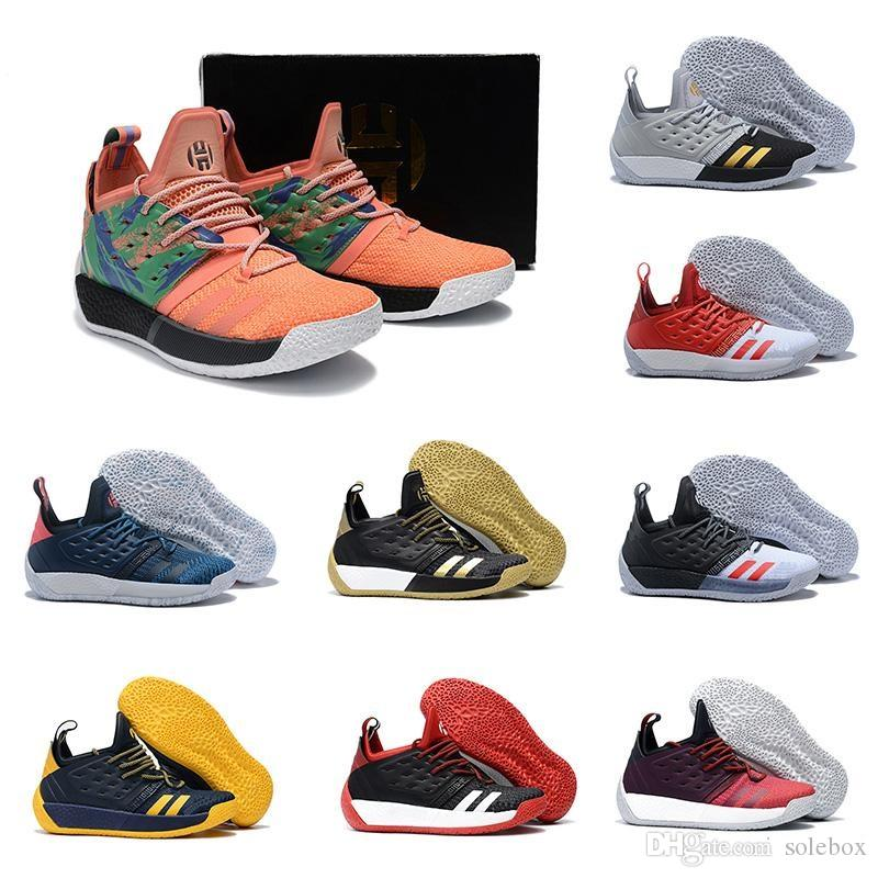 c30a8a27e591 2018 New Harden Vol. 2 Mens Basketball Shoes Black White Orange Wholesale  Fashion James Harden Shoes Sneakers Size EUR 40-46 James Harden Basketball  Shoes ...