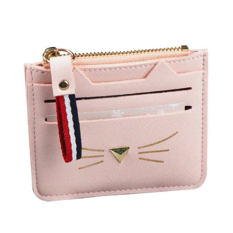 sports shoes 37453 b39ee QIMANSHI Women Coin Purses Card Holder Wallet Mini Credit Card Holders For  Female Lovely Cat Ear Cash Card Purse