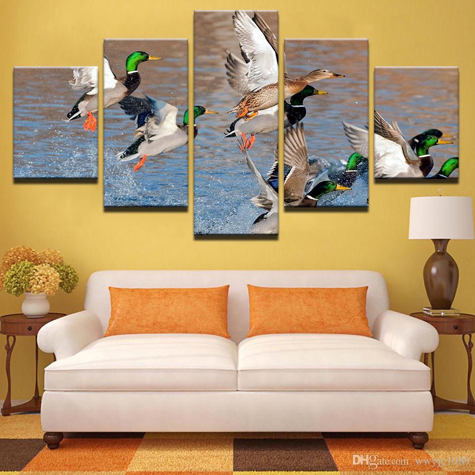 Mallard Ducks Canvas Painting Modular HD Prints Wall Art Poster ...