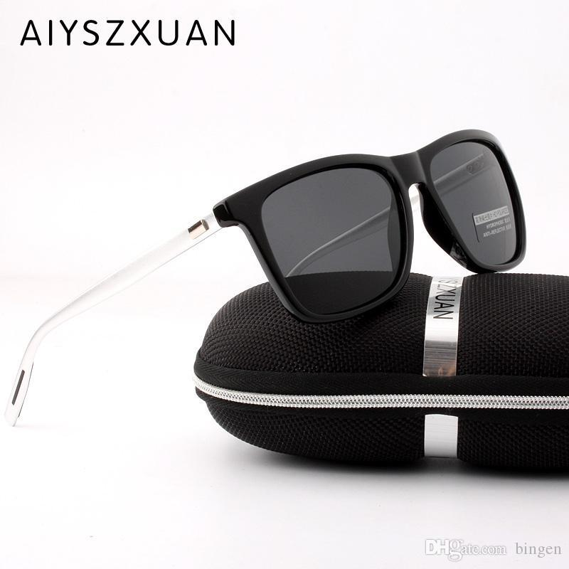 2a81cb6ce0 AIYSZXUAN Brand Classic Polarized Sunglasses Men Driving Square Black Frame  Eyewear Male Sun Glasses For Men Wome Oculos Gafas Dragon Sunglasses Vintage  ...