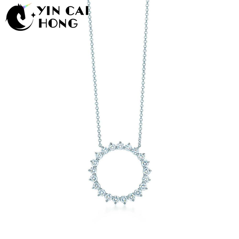 0eaf61d9c13 2019 YCH Charm 925 Sterling Silver Shining Jewel Sun Pendant Necklace  Original Women Pendant Clavicle Chain Retro Simple From Bojiban, $28.08 |  DHgate.Com
